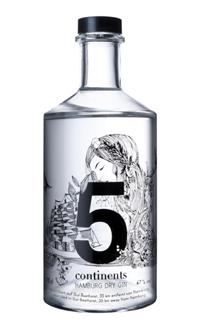 5 Continents Gin 47% 70cl