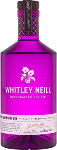 Whitley Neill Rhubarb & Ginger 43% 70cl (6 stk.)