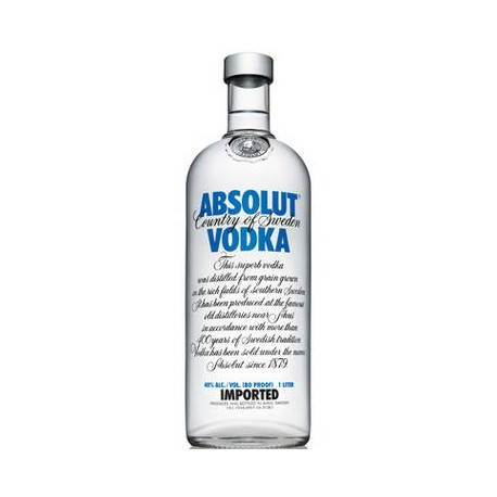 Absolut Vodka 40% 100cl (6 i karton)